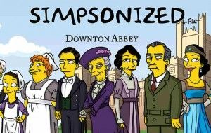 simpsons abbey the downton