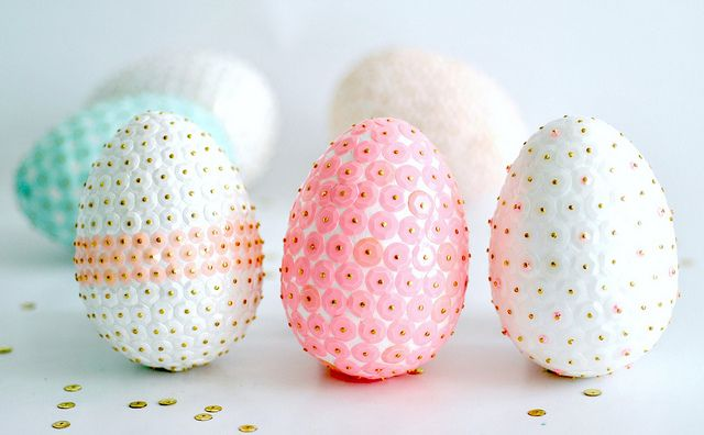 More sequin eggs easter egg and sequins sequin easter eggs what a lot of work but beautiful for easter negle Image collections