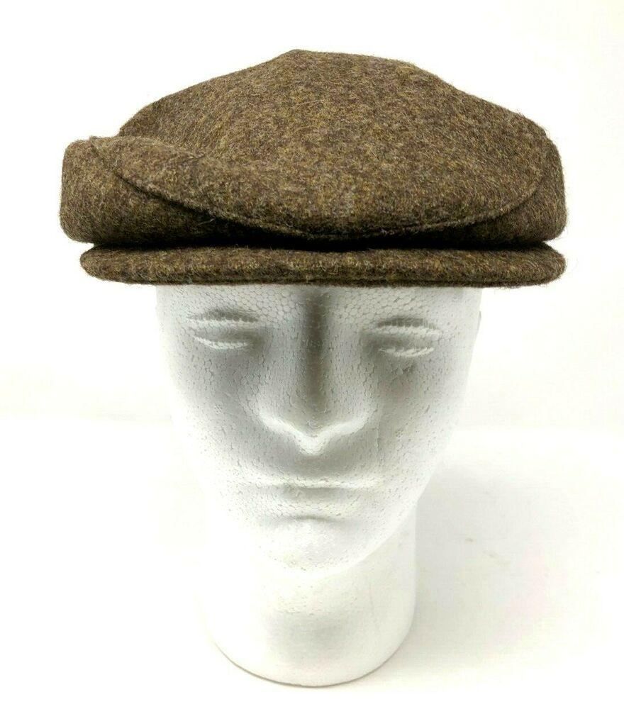 Stetson Gentlemen Driving Newsboy Cap Golf Hat Brown Plaid Size Medium Stetson Cabbie Newsboy Cap Newsboy Newsboy Cap Men