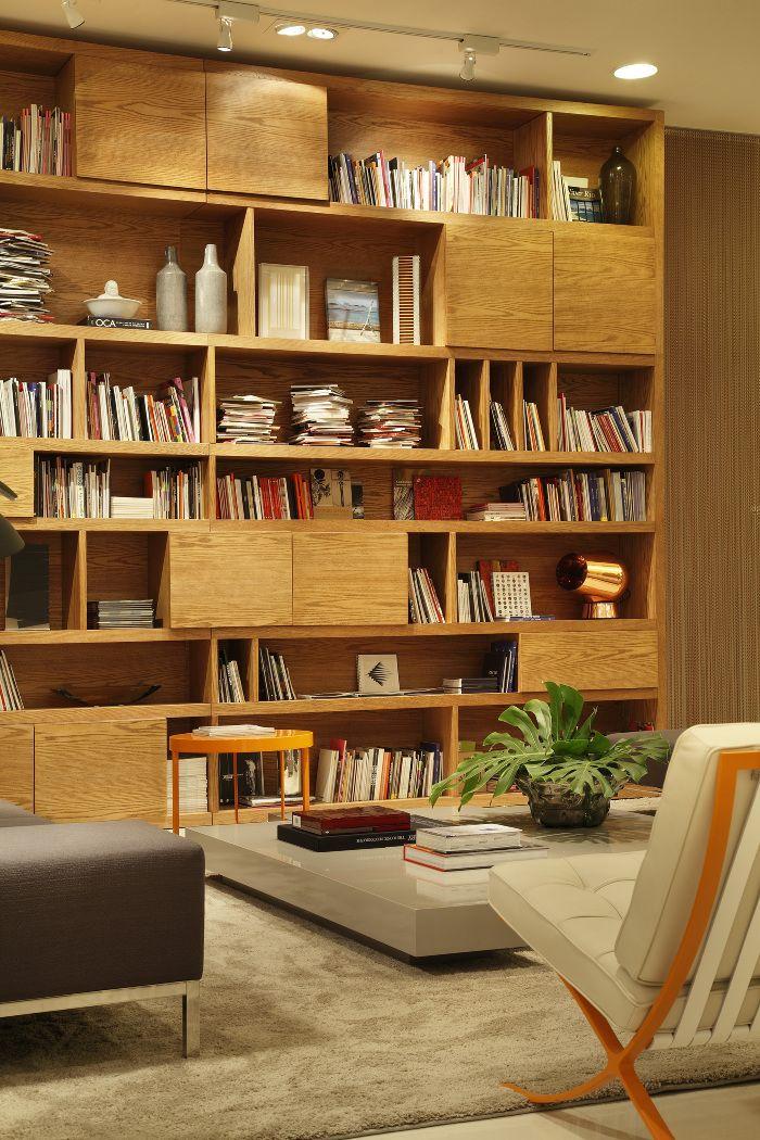 Mostra l der bookcase for Librerias salon modernas