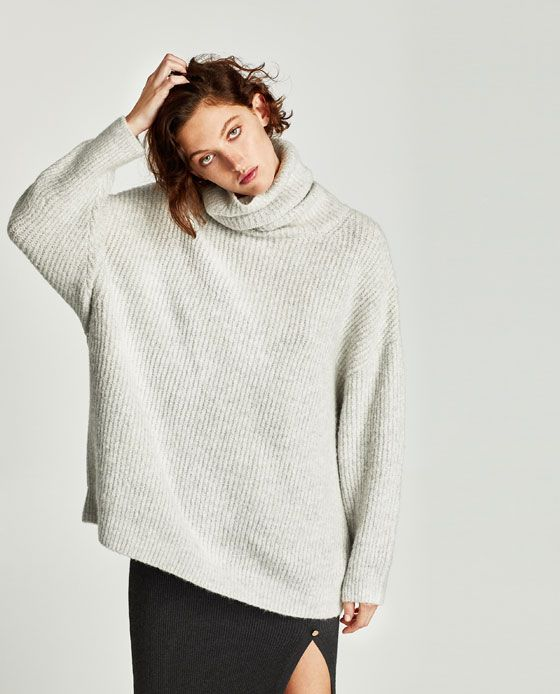 OVERSIZED ROLL NECK SWEATER - COLLECTION-SALE-WOMAN