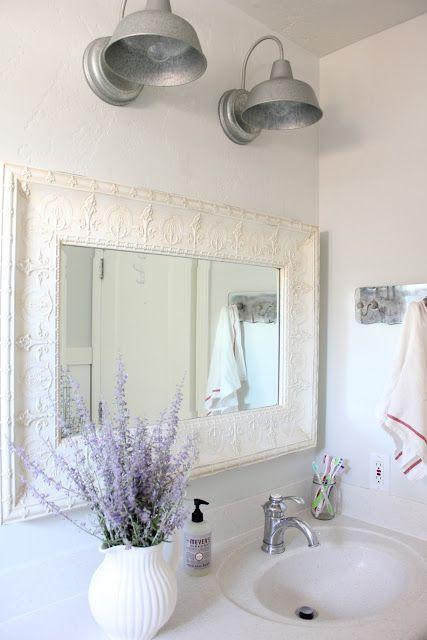 French Farmhouse Bathroom Purple