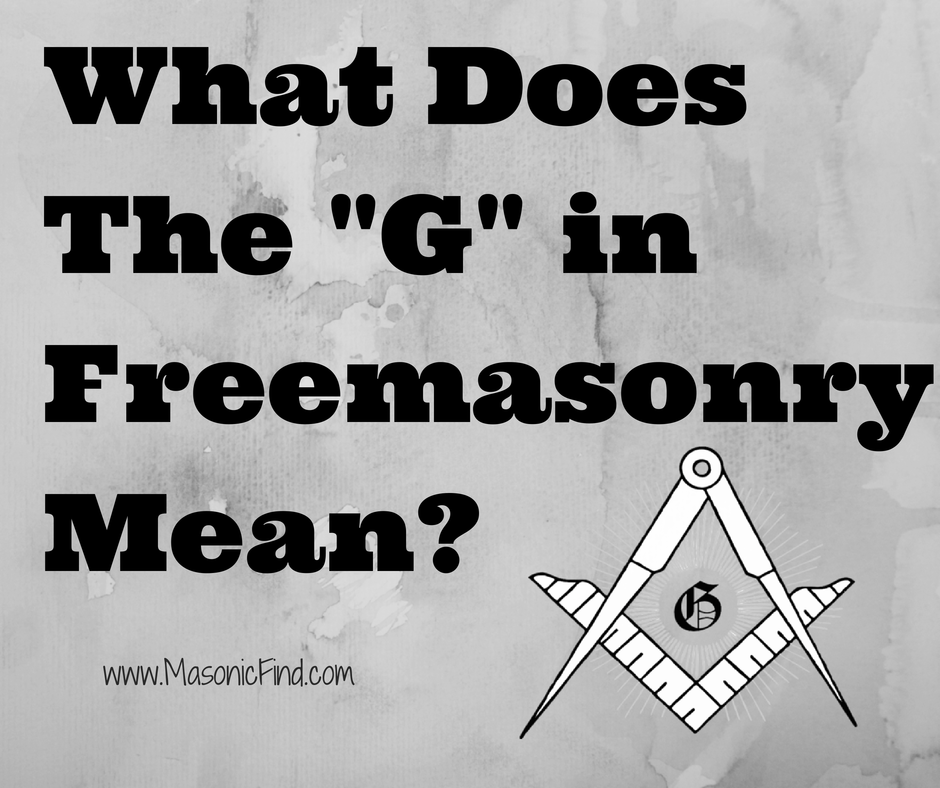 What Does The G In Freemasonry Light Pinterest