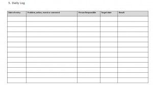 Prince2 Daily Log Template Templates Plan For Life Daily