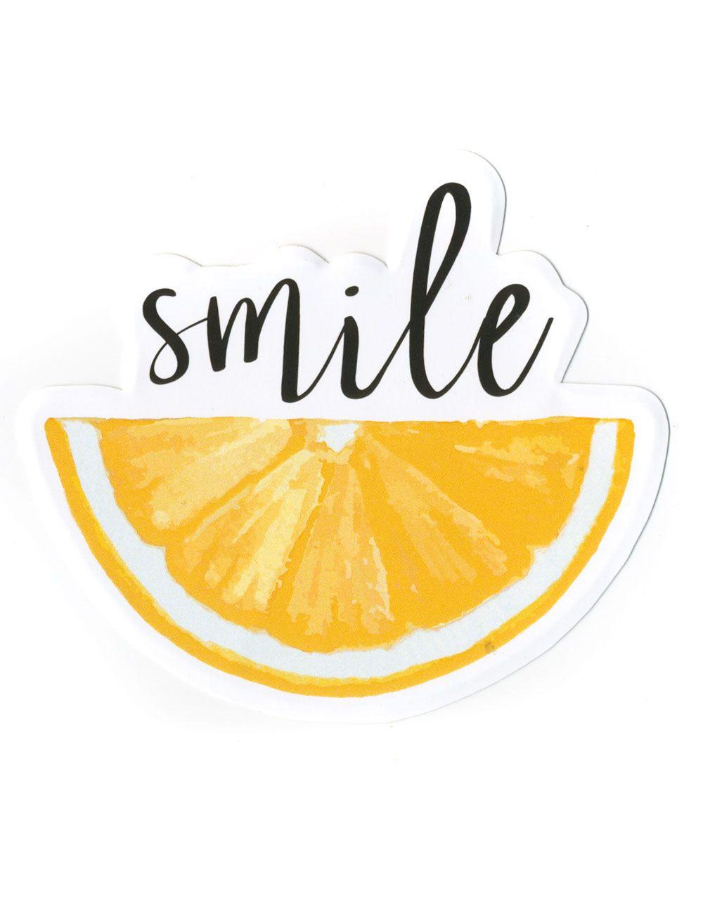 Smile Lemon sticker. Approx. dimensions: 4