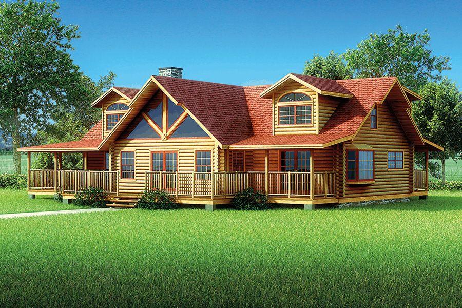 Birchfield Log Home 2894 Sf 3 Bedrooms 2 1 2 Bath Log Home Floor Plans Log Homes Floor Plans