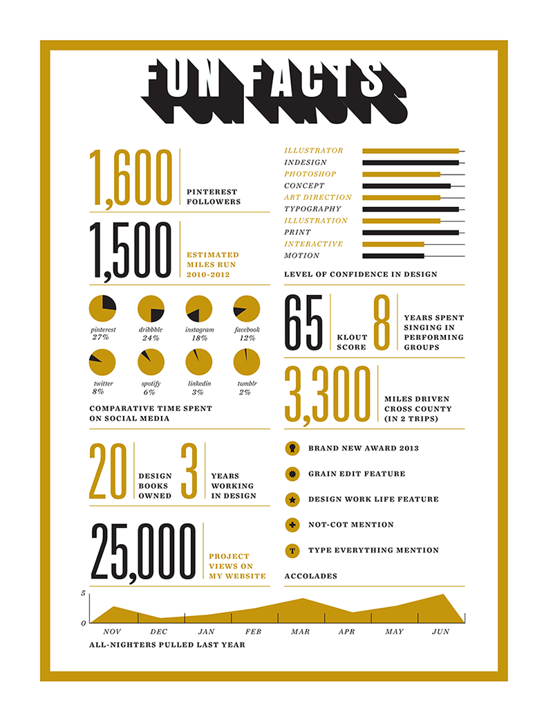 Self Promo Infographic Example Of A Lot Of Info Done Well With