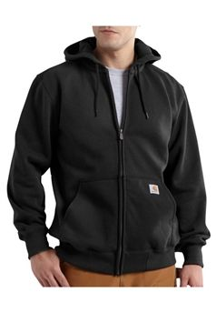 Carhartt Mens RD Paxton HW Hooded Zip Front Black Sweatshirt | Buy Now at camouflage.ca
