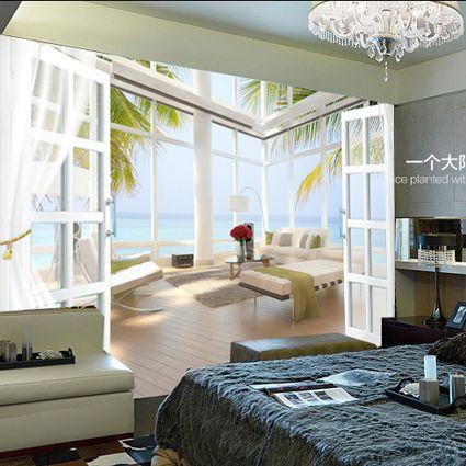 pas cher personnalis grande murale 3d papier peint chambre paysage photo d 39 entr e de style. Black Bedroom Furniture Sets. Home Design Ideas