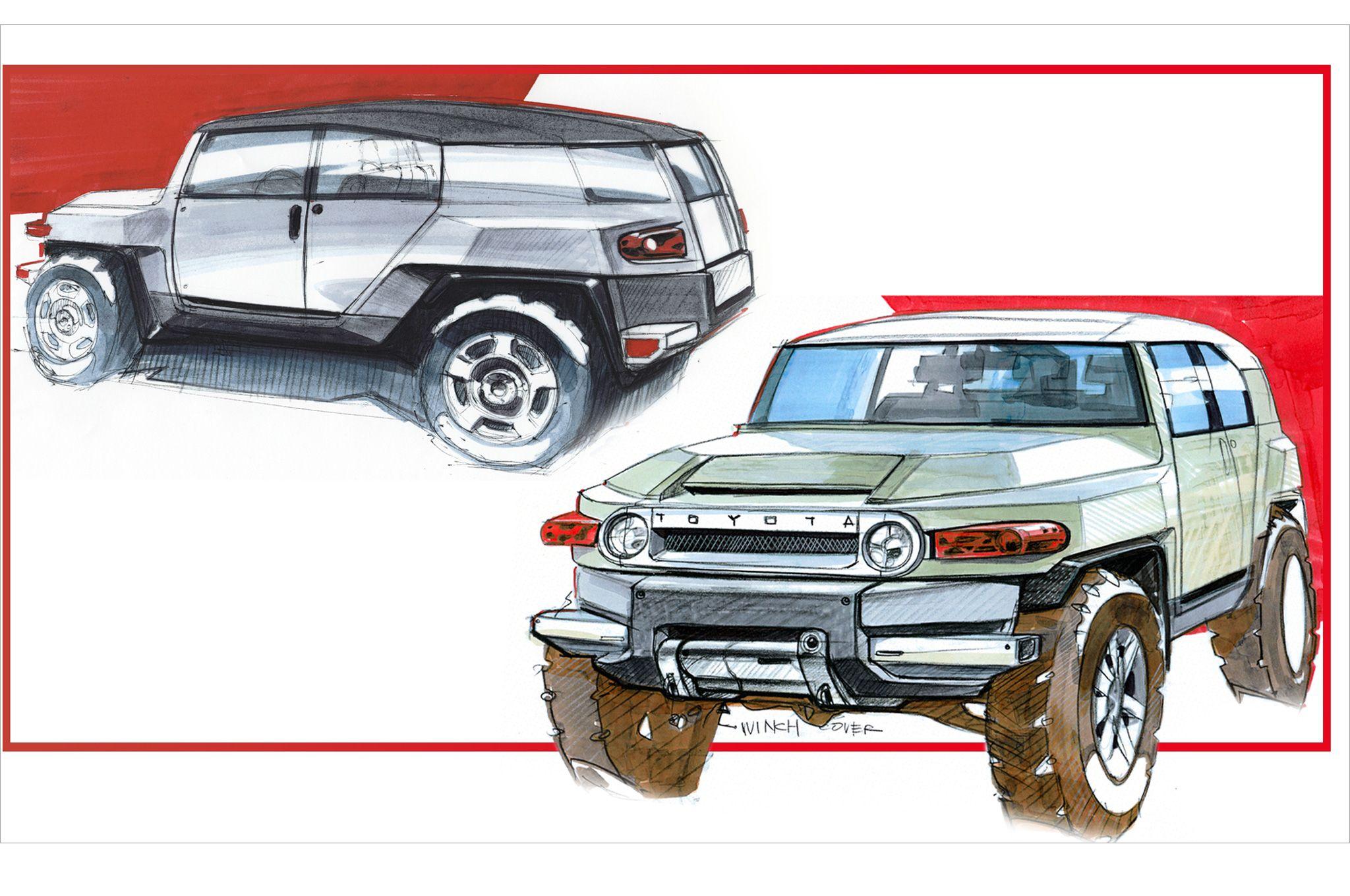 toyota-fj-cruiser-concept-sketch.jpg (2048×1360) | brain food ...