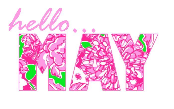 Hello May #May #hello #Month #pink #words #Mayo #Hola