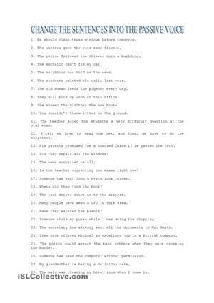 Passive Voice exercises | English worksheets | Pinterest ...