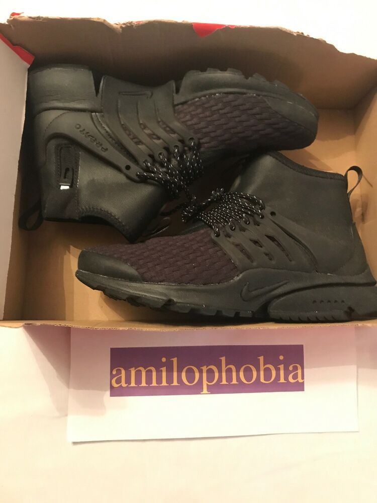 new product be981 7c5f8 New Women s Nike Air Presto Mid Utility PRM Size 9 Black White Running Shoes  - Nike