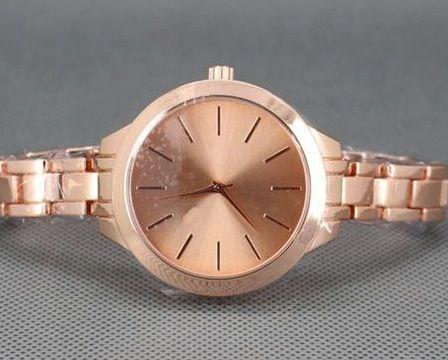 MK (replica) Rose Gold Slim Runway Watch