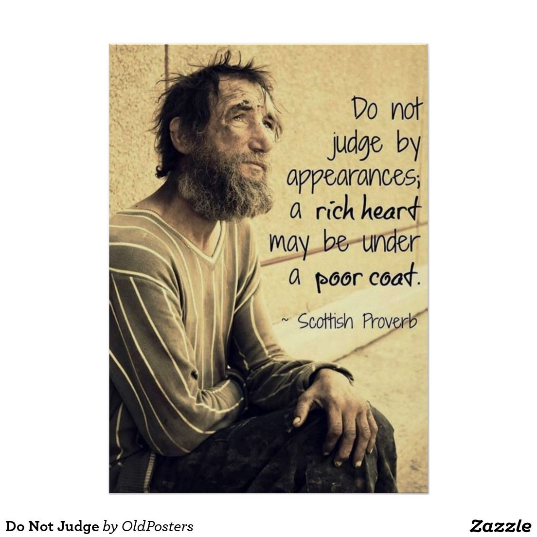 Do Not Judge Poster | Zazzle.com