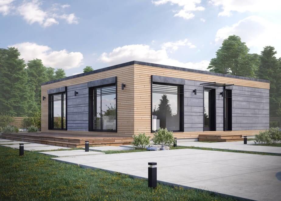 Haus Bauen 80 Qm Deltamodul Trio Haus Haus Projekte Haus Bauen
