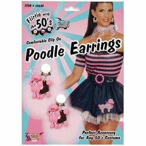 87650b777049 50s Pink Poodle Earrings