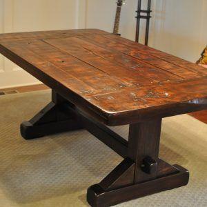 Rustic Trestle Kitchen Table | http://nilgostar.info | Pinterest ...