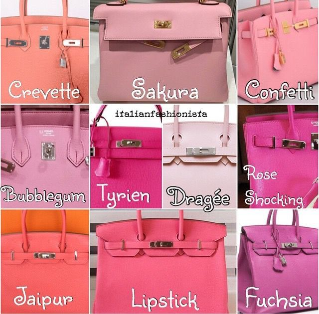 35ccfbd6f6 Hermes Color Chart Pinks