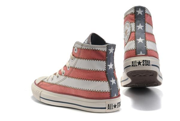 bfc0b72f25ca ultimate-high-top-converse-all-star-america -us-flag-red-white-with-grey-tongue-canvas-shoes