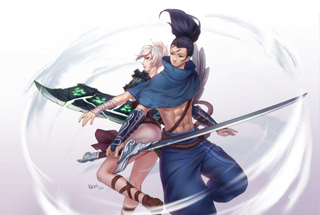 Riven Yasuo By HD Wallpaper Background Fan Art Artwork League Of Legends Lol
