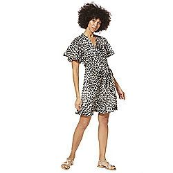 1268c86ad2c9 F&F Animal Print Wrap Dress Multi 6 | Fashion | Print wrap, Wrap ...