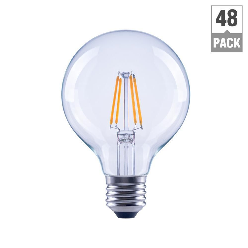 40 Watt Equivalent G25 Dimmable Energy Star Clear Filament Vintage