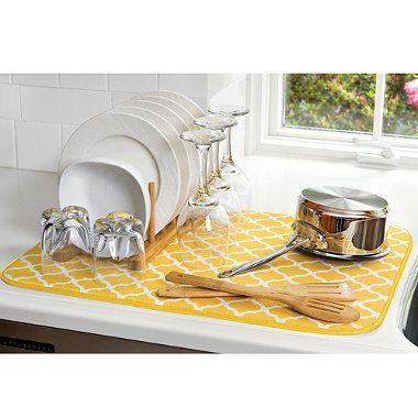 The Original Xl Dual Dish Drying Mat Bedbathandbeyond Com