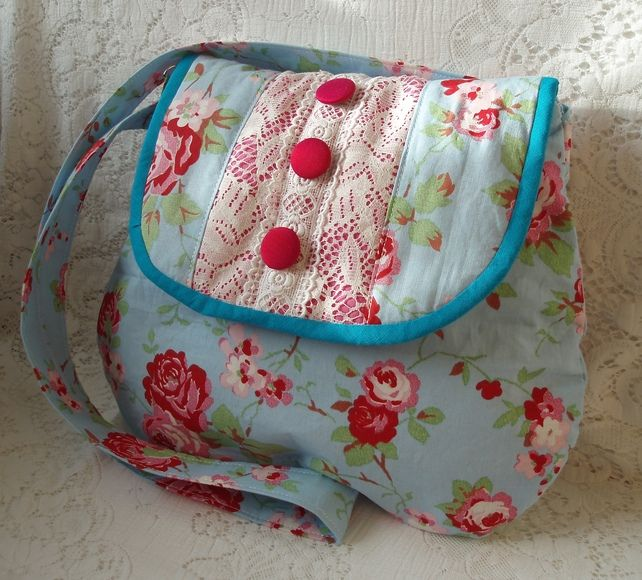 Rosalie bag made from Cath Kidston Fabric RESERVED FOR DIANE