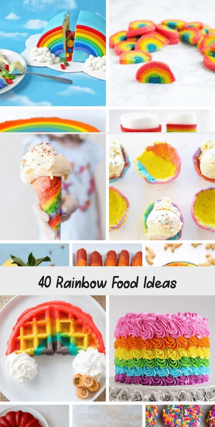 Photo of 40 Rainbow Food Ideas –  40 RAINBOW FOOD IDEAS: A roundup of rainbow treats, swe…