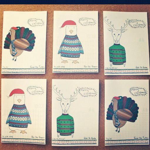 Rodo Creative Christmas Cards! Peter the Penguin and friends!