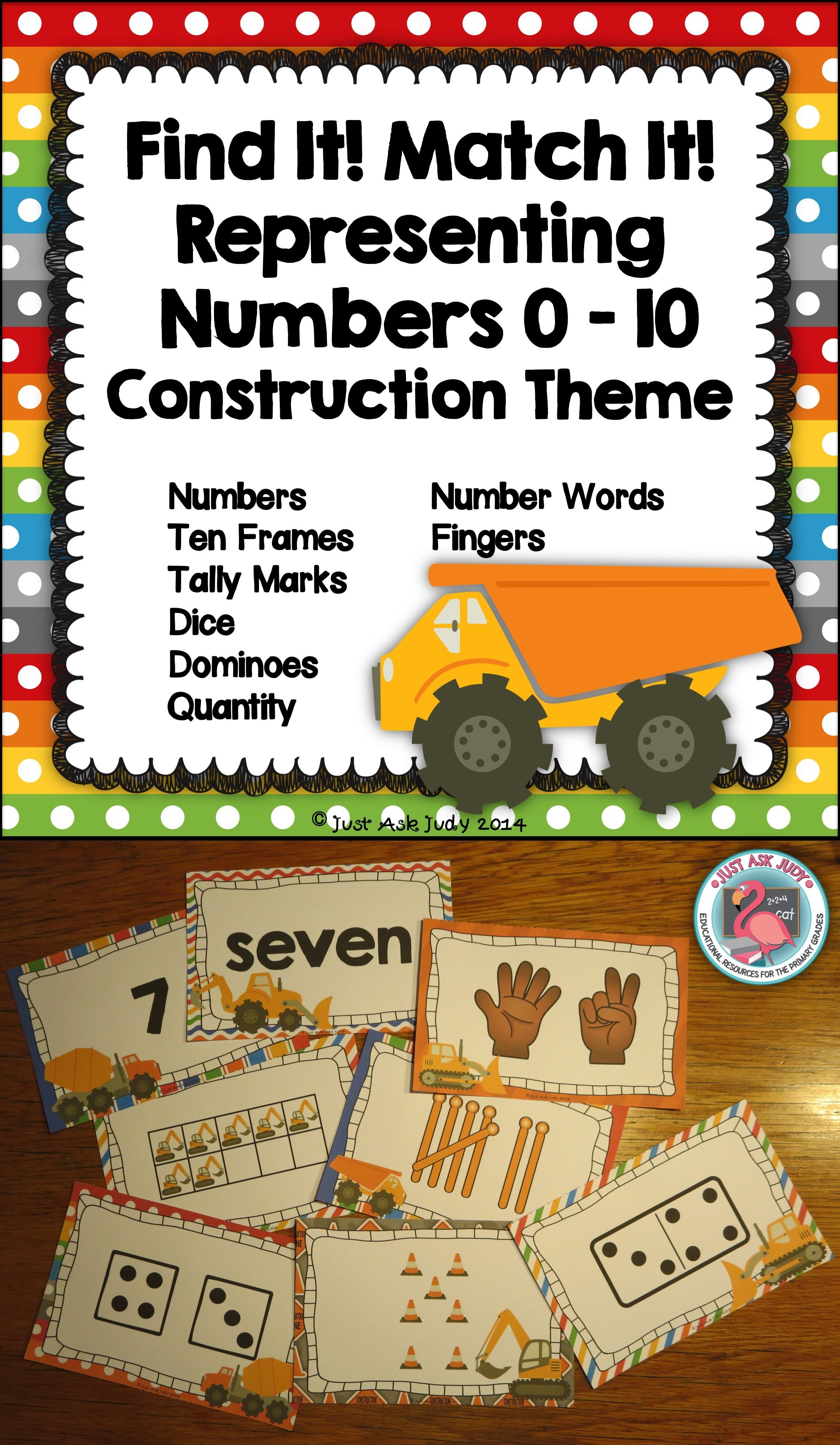 Number Sense Activity 0 10 Construction Theme