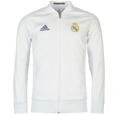 1b26b8268 Adidas real madrid  anthem jacket mens  white  football soccer tracksuit  track to