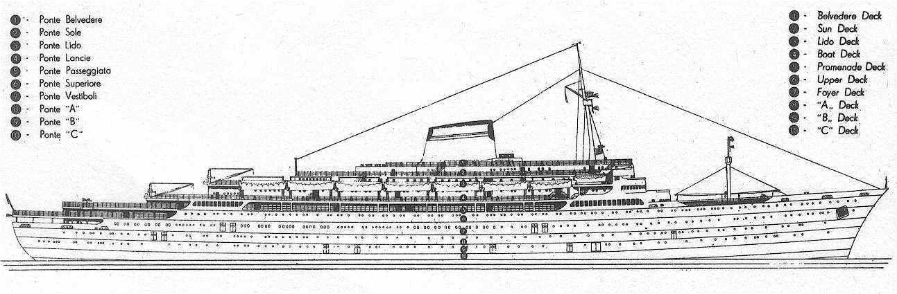 Andrea Doria Deck Plans Google Search Travel Ocean