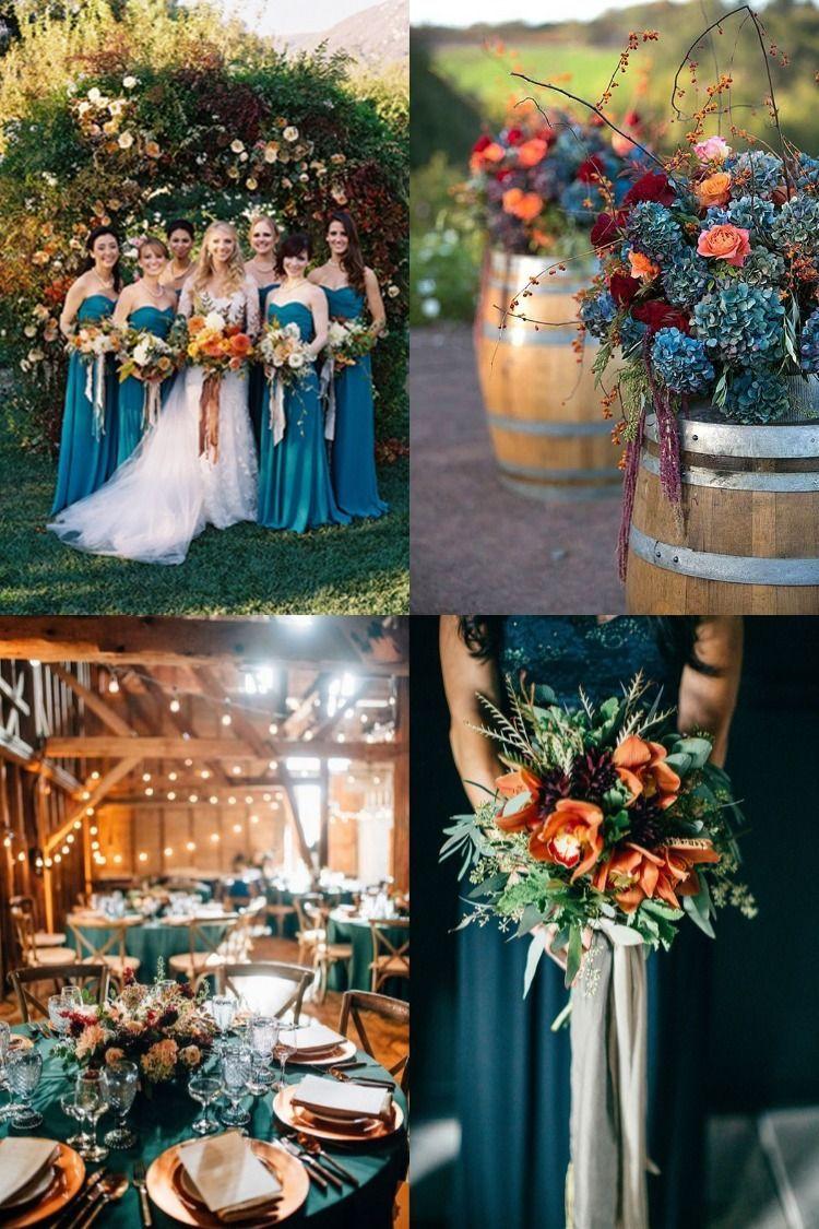 20 Dark Teal and Rust Orange Wedding Color Ideas for Fall in 2020 | October wedding  colors, Fall wedding color schemes, Orange wedding colors