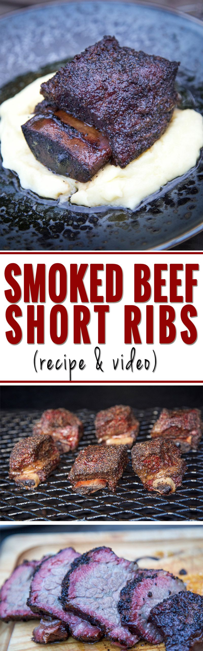 Smoked Beef Short Ribs With Red Wine Braise Vindulge Recipe Smoked Beef Short Ribs Smoked Beef Beef Short Ribs