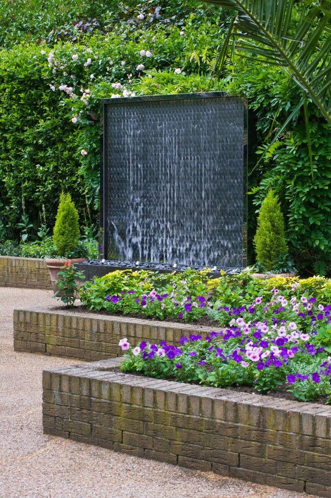 Effektvolle Wasserspiele von David Harber wasserfall wand - wasserfall garten wand