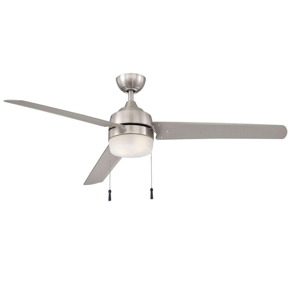 Hampton Bay Carrington 60 In Indoor Outdoor Brushed Nickel Ceiling Fan Yg419 Bn At The Home Depo Brushed Nickel Ceiling Fan Ceiling Fan Ceiling Fan With Light