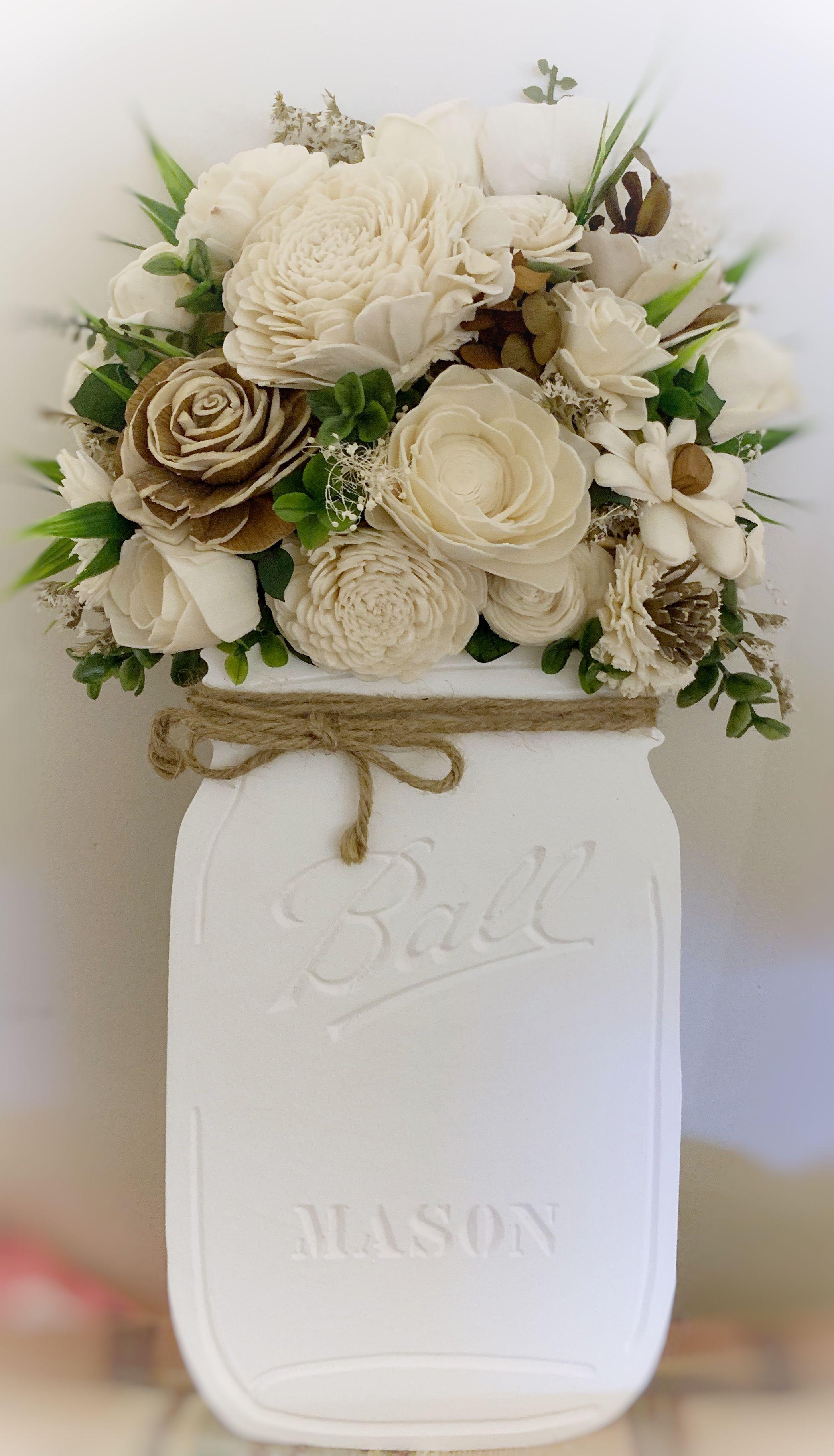 Sola Wood Flower Bouquet In Mason Jar Sola Wood Flowers Sola