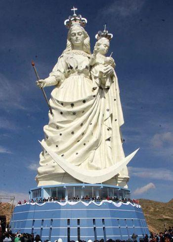 statue of Virgen del socavon bolivia oruro | Virgen, Ciudades