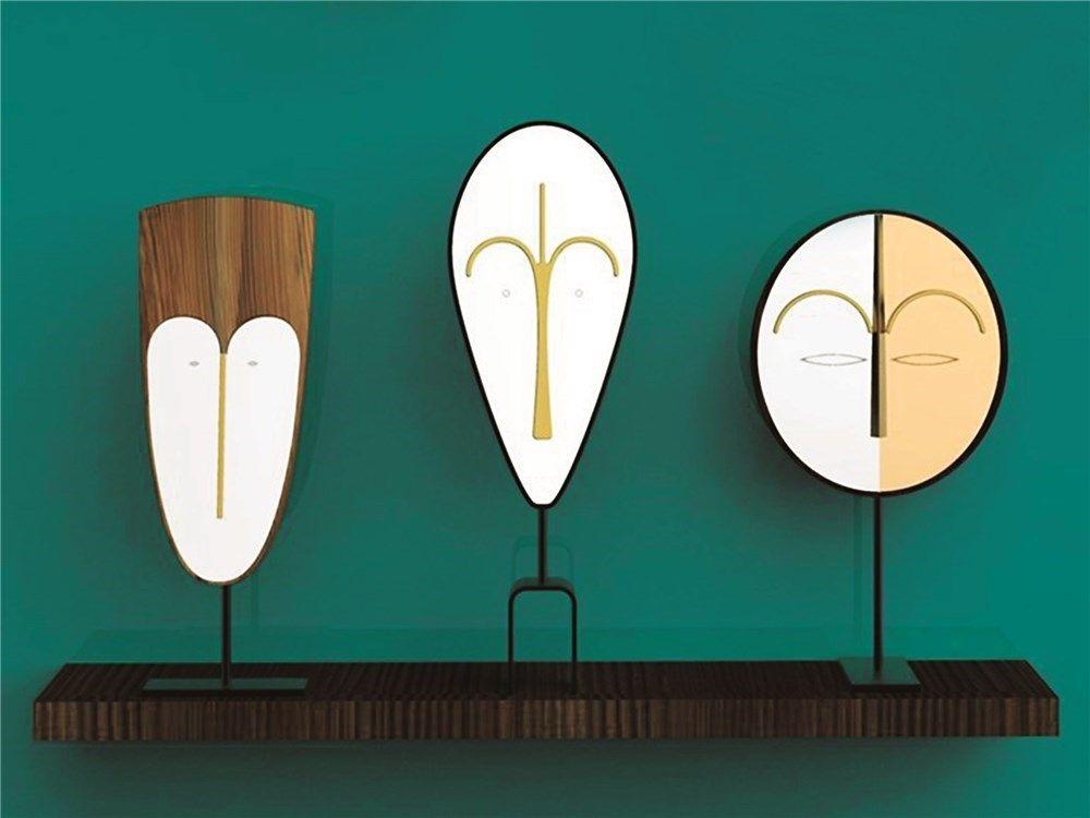 Espejos que parecen máscaras africanas - Colección Bikita para la marca Colé.