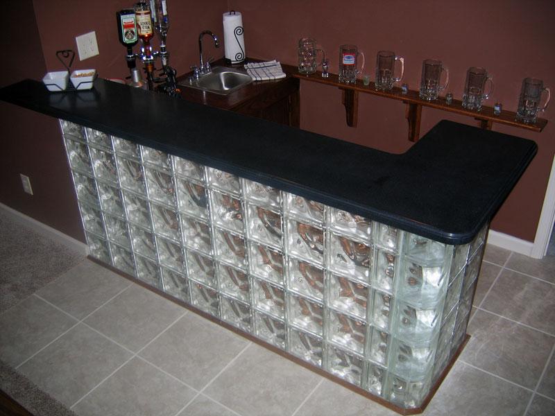 Glass Block Bars Designs Glass Block Ideas Game Room Bar Glass Blocks Home N Decor