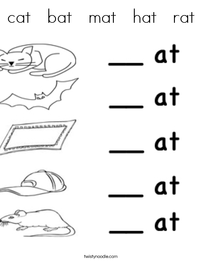 Cat Mat Coloring Page | Идея | Pinterest