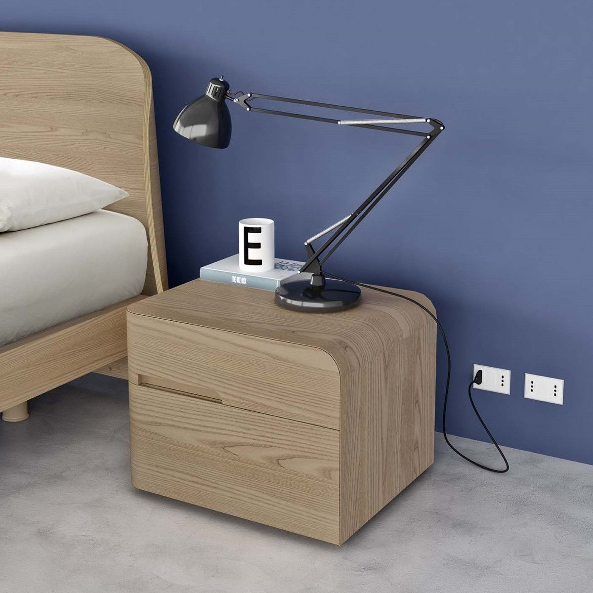Comodino di design Andromeda in legno essenza olmo perla | design ...