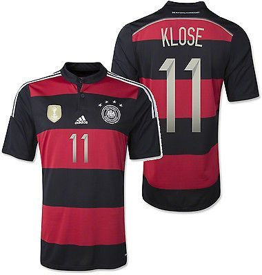Adidas Miroslav Klose Germany 4 Star Away Jersey Fifa World Cup 2014 Champion World Cup 2014 Fifa World Cup World Cup