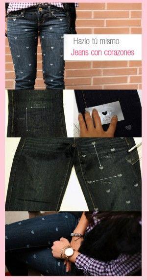 pintando pantalones | Pantalones de mezclilla, Ropa ...