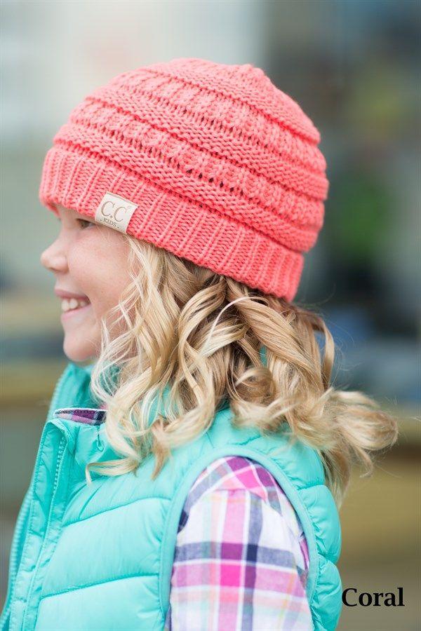 Kids CC Beanie Hats  cb93812c5f1