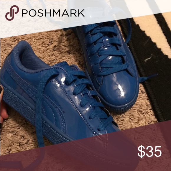 blue puma shoes womens