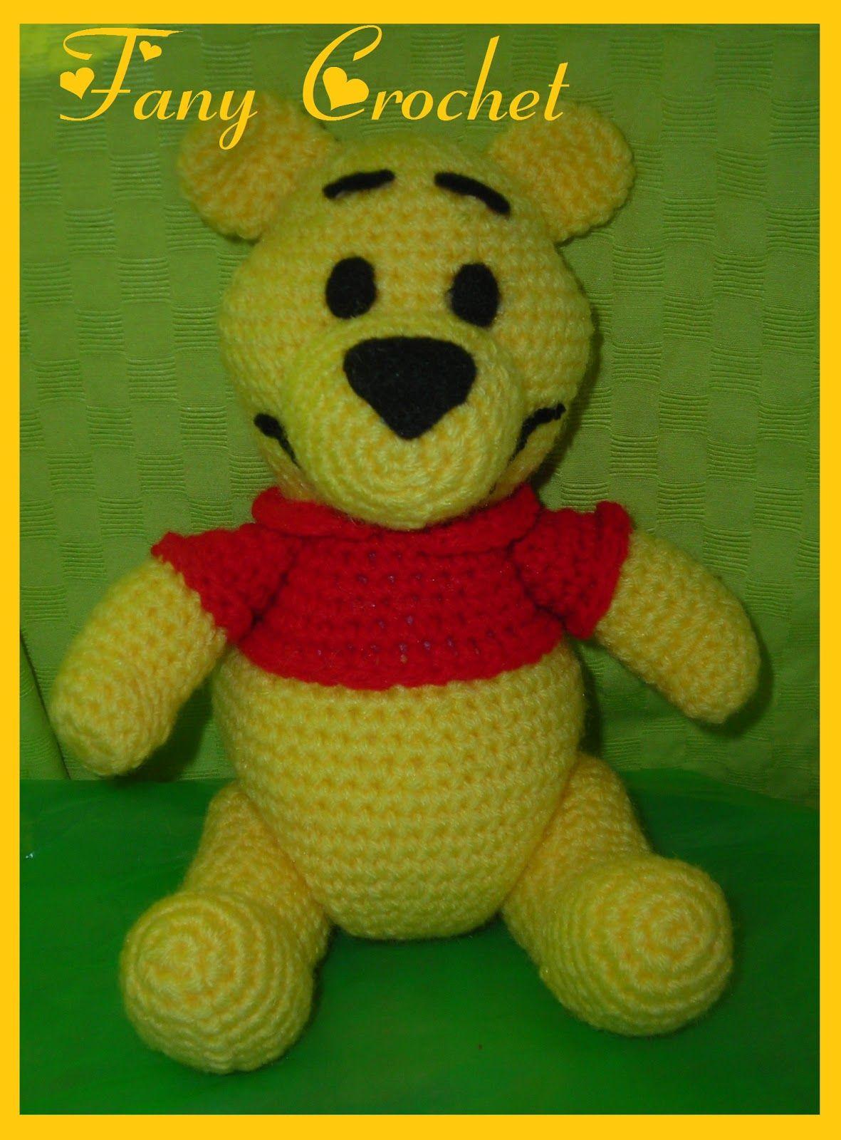 Winnie the Pooh (25cm) ~ Patrón Gratis en Castellano ~ Link directo ...