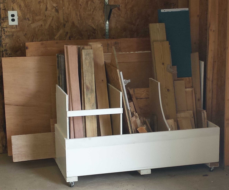 Scrap wood storage unit Lumber storage, Wood storage
